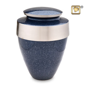 Speckled Indigo Eternity Adult Funeral Cremation Urn, 300 Cubic Inches
