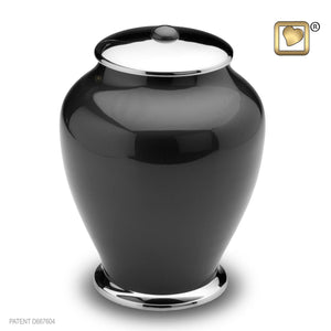 Simplicity Midnight Tall Child/Pet Funeral Cremation Urn,  40 Cubic Inches
