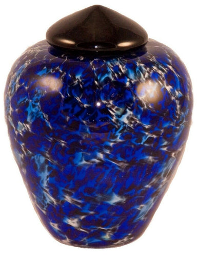 100 Cubic Inch Florence Water Funeral Glass Cremation Urn for Ashes