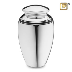 Art Deco Adult Funeral Cremation Urn, 220 Cubic Inches