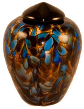 Small/Keepsake 3 Cubic Inch Florence Evening Glass Cremation Urn for Ashes