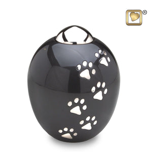 Midnight Adore Medium Pet Funeral Cremation Urn, 90 Cubic Inches