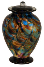 XL/Companion 400 Cubic Inch Venice Evening Funeral Glass Cremation Urn for Ashes