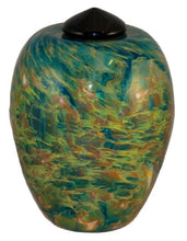 Load image into Gallery viewer, Large/Adult 220 Cubic Inch Florence Nuvole Funeral Glass Cremation Urn for Ashes