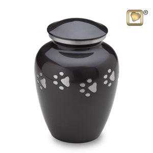 Midnight Classic Large Pet Funeral Cremation Urn, 105 Cubic Inches