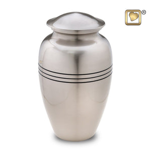 Pewter Classic Radiance Adult Funeral Cremation Urn, 200 Cubic Inches
