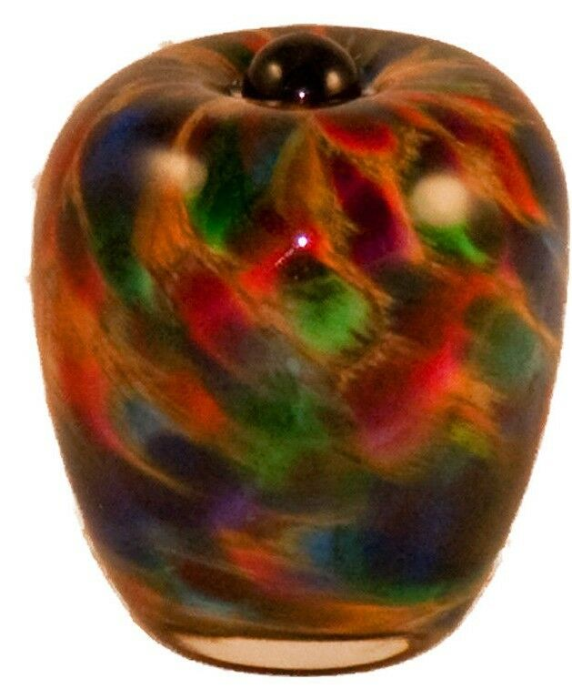 Small/Keepsake 3 Cubic Inch Florence Autumn Glass Cremation Urn for Ashes