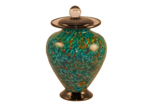 100 Cubic Inch Venice Aegean Funeral Glass Cremation Urn for Ashes