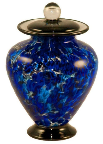 100 Cubic Inch Venice Water Funeral Glass Cremation Urn for Ashes