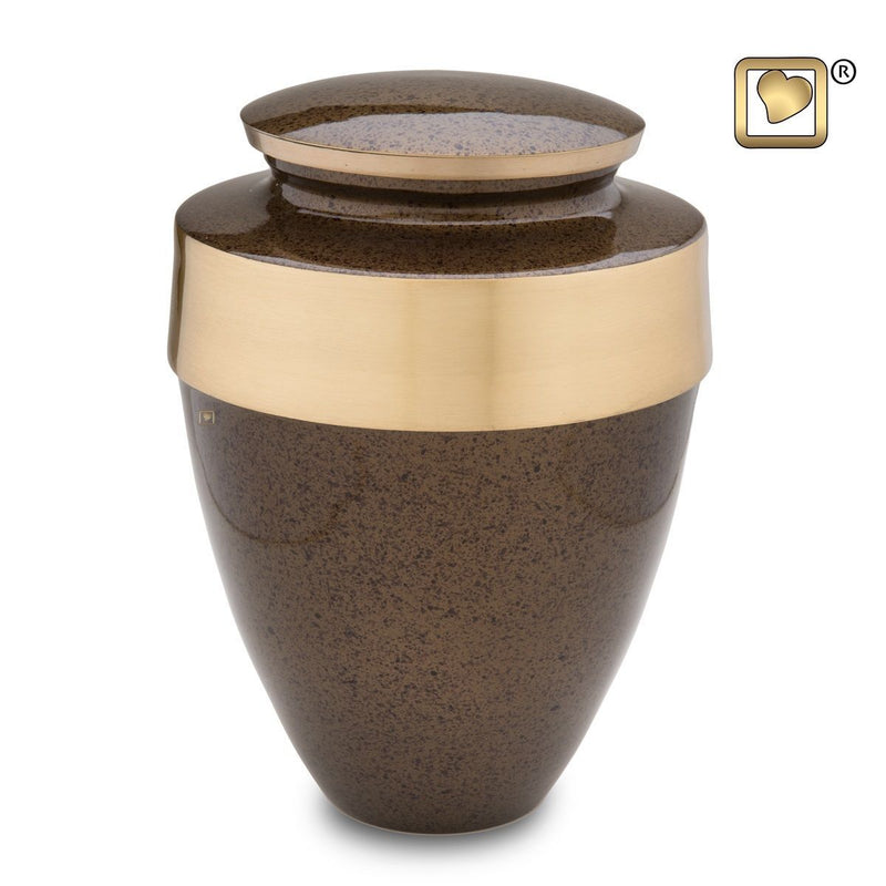 Speckled Auburn Eternity Adult Funeral Cremation Urn, 300 Cubic Inches