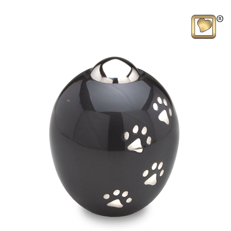 Midnight Adore Small Pet Funeral Cremation Urn, 50 Cubic Inches