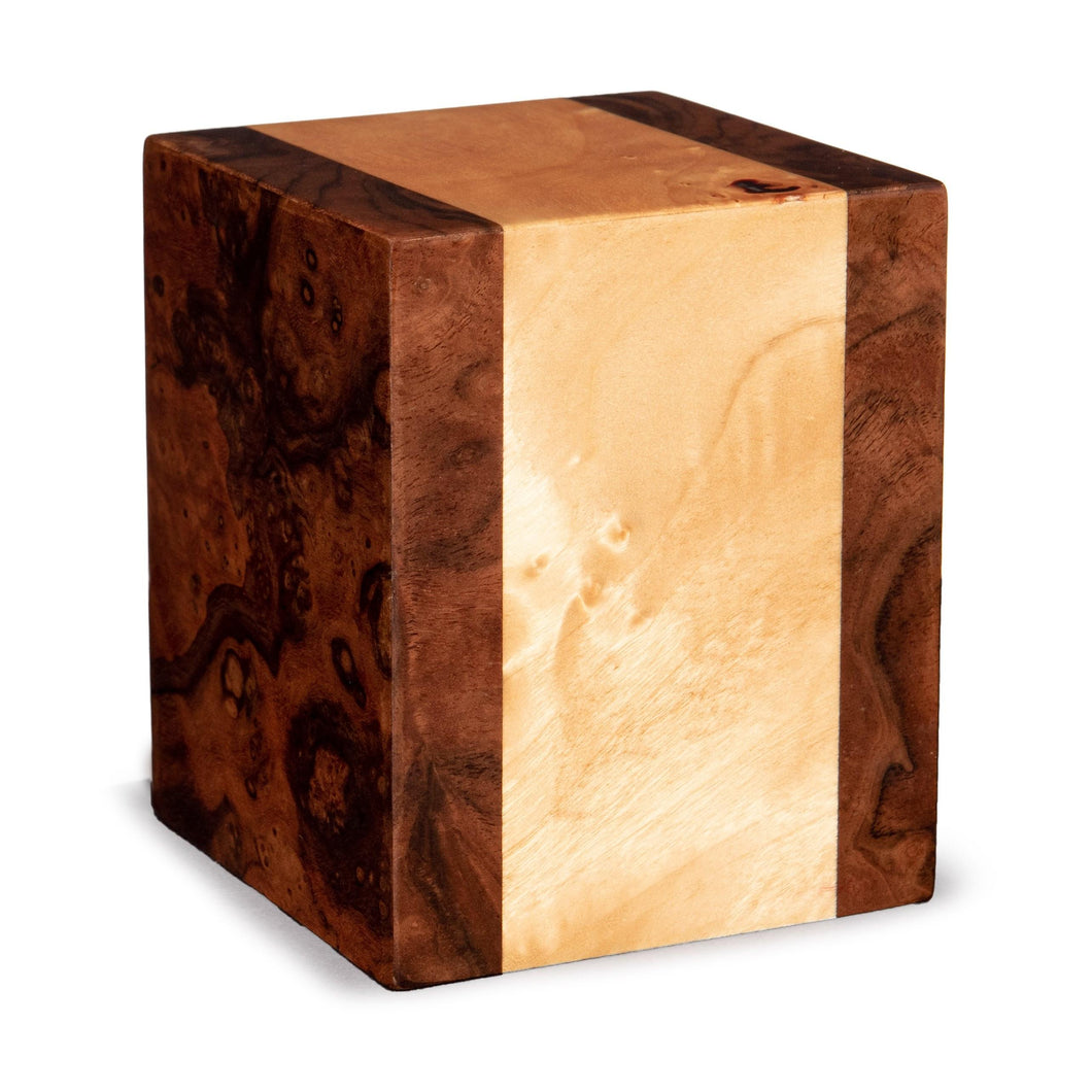 Labarde 30 Cubic Inches Small/Keepsake Wood Box Funeral Cremation Urn for Ashes