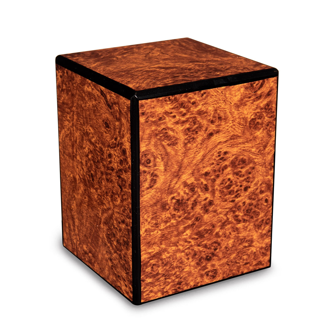 Society Burl 48 Cubic Inches Small/Keepsake Wood Box Cremation Urn for Ashes
