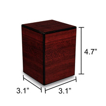 Load image into Gallery viewer, Society Cherry 48 Cubic Inches Small/Keepsake Wood Box Cremation Urn for Ashes