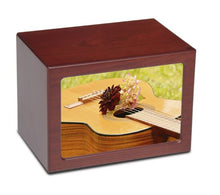 Large/Adult 175 Cubic Inch Acoustic Guitar Photo Frame MDF Wooden Cremation Urn