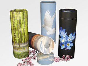 Biodegradable Ash Scattering Tube Cremation Urn - 100 cubic inches