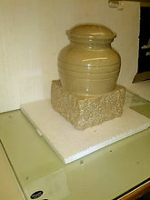 Load image into Gallery viewer, White Colored, Adult Funeral Cremation Urn made out of a block of Solid Marble