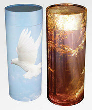 Load image into Gallery viewer, Biodegradable Lily Ash Scattering Tube Funeral Cremation Urn - 20 cubic inches