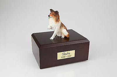 Paw Up Collie Pet Funeral Cremation Urn Avail in 3 Different Colors & 4 Sizes