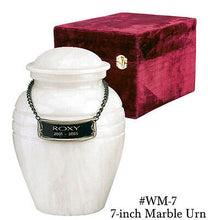 Load image into Gallery viewer, White Color, Child/Pet Funeral Cremation Urn made out of a block of Solid Marble