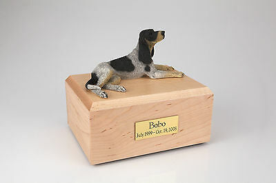 Coonhound Pet Funeral Cremation Urn Available in 3 Different Colors & 4 Sizes