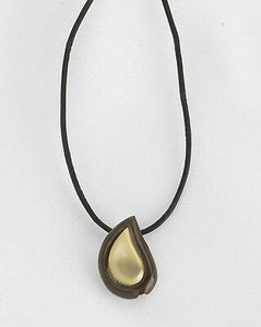 Tear Drop Shaped, Funeral Cremation Urn Pendant, Also Available in Other Sizes