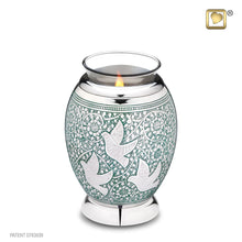 Load image into Gallery viewer, Returning Home Tealight Infant/Child/Pet Funeral Cremation Urn, 20 Cubic Inches