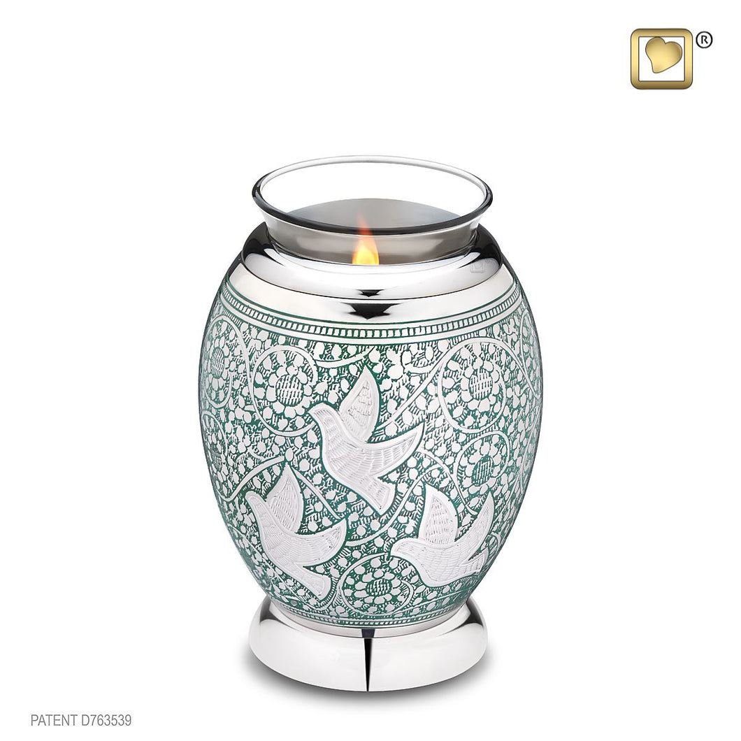 Returning Home Tealight Infant/Child/Pet Funeral Cremation Urn, 20 Cubic Inches
