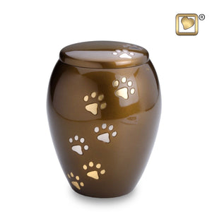 Majestic Paws Medium Pet Funeral Cremation Urn, 90 Cubic Inches