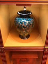 Load image into Gallery viewer, Small/Keepsake 3 Cubic Inch Venice Desert Funeral Glass Cremation Urn for Ashes