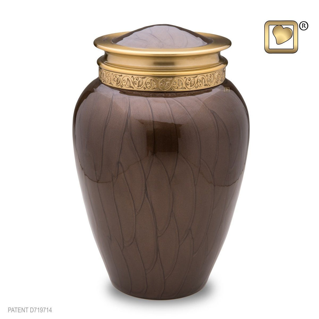 Blessing Bronze Adult Funeral Cremation Urn,  225 Cubic Inches