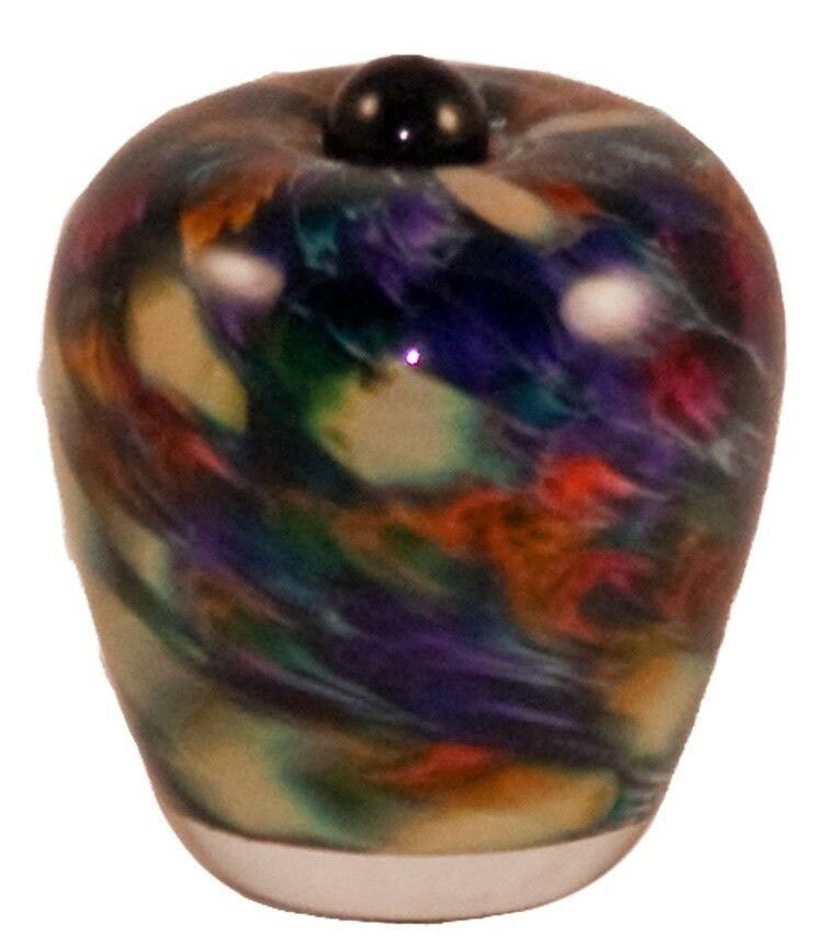 Small/Keepsake 3 Cubic Inch Florence Desert Glass Cremation Urn for Ashes