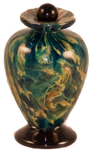Small/Keepsake 3 Cubic Inch Venice Nuvole Funeral Glass Cremation Urn for Ashes