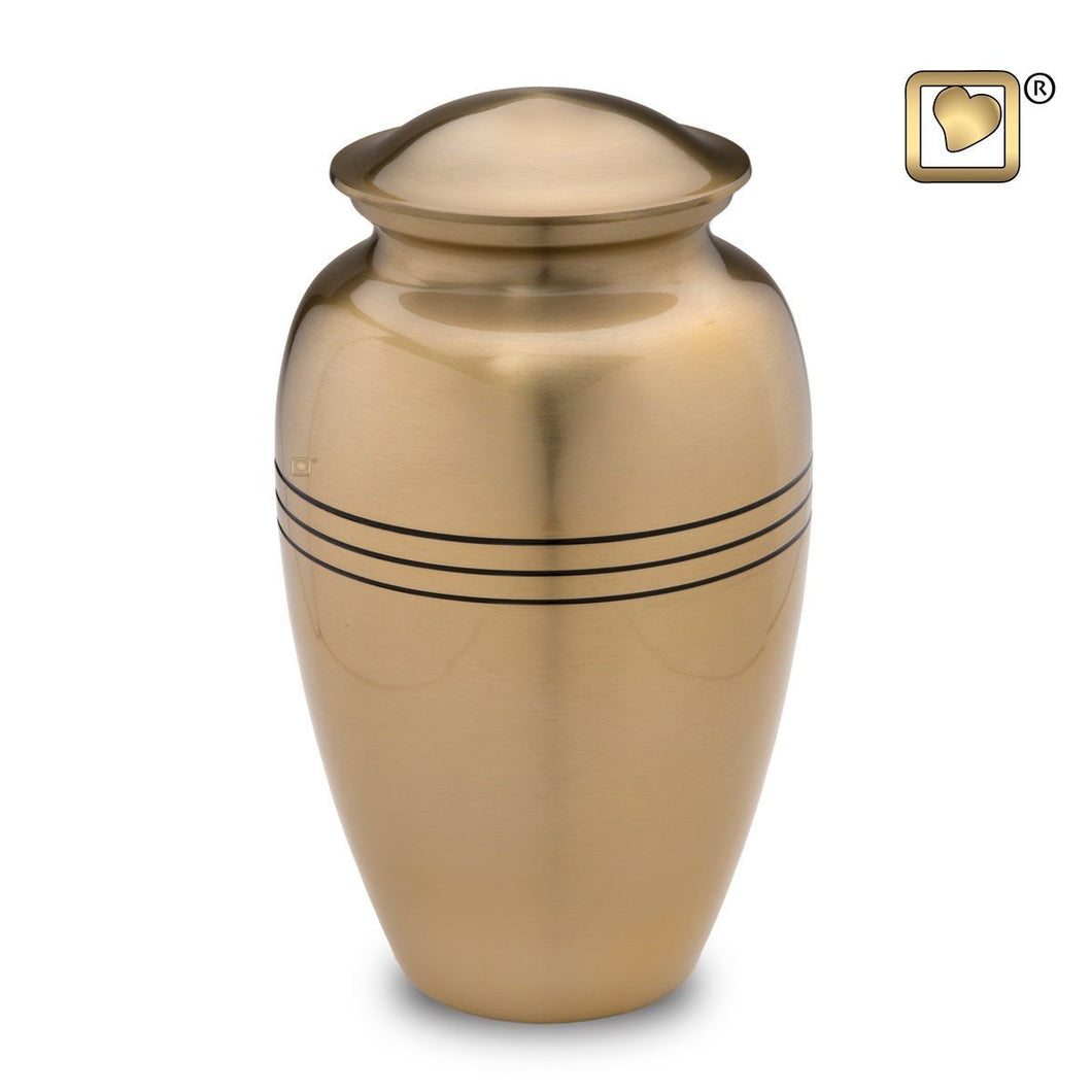Gold Classic Radiance Adult Funeral Cremation Urn, 200 Cubic Inches