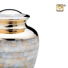 Load image into Gallery viewer, Mother of Pearl Adult Funeral Cremation Urn,  200 Cubic Inches