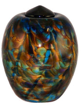 XL/Companion 400 Cubic In Florence Evening Funeral Glass Cremation Urn for Ashes