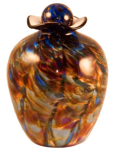 Large/Adult 220 Cubic Inch Rome Evening Funeral Glass Cremation Urn for Ashes