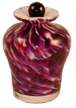 Load image into Gallery viewer, Small/Keepsake 3 Cubic Inch Palermo Rose Glass Funeral Cremation Urn for Ashes