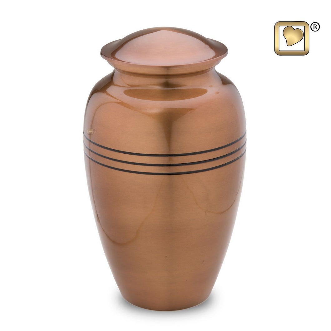 Copper Radiance Adult Funeral Cremation Urn, 200 Cubic Inches