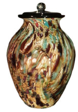 Load image into Gallery viewer, Large/Adult 220 Cubic Inch Messina Cirrus Funeral Glass Cremation Urn for Ashes