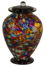 XL/Companion 400 Cubic Inch Venice Desert Funeral Glass Cremation Urn for Ashes