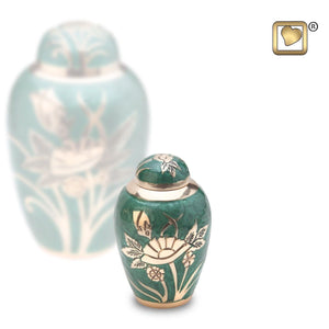 Emerald Rose Keepsake Funeral Cremation Urn,  4 Cubic Inches