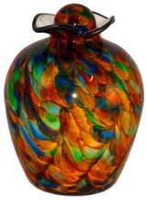XL/Companion 400 Cubic Inch Rome Autumn Funeral Glass Cremation Urn for Ashes