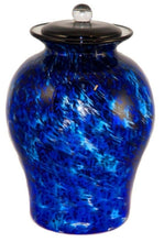 XL/Companion 400 Cubic In Palermo Water Funeral Glass Cremation Urn for Ashes