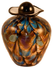100 Cubic Inch Rome Evening Funeral Glass Cremation Urn for Ashes