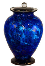 Load image into Gallery viewer, Large/Adult 220 Cubic Inch Venice Water Funeral Glass Cremation Urn for Ashes