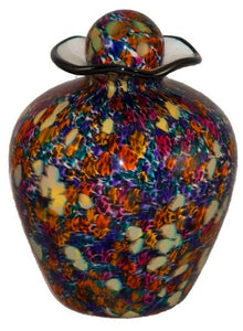 Large/Adult 220 Cubic Inch Rome Desert Funeral Glass Cremation Urn for Ashes