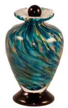 Load image into Gallery viewer, Small/Keepsake 3 Cubic Inch Venice Aegean Funeral Glass Cremation Urn for Ashes