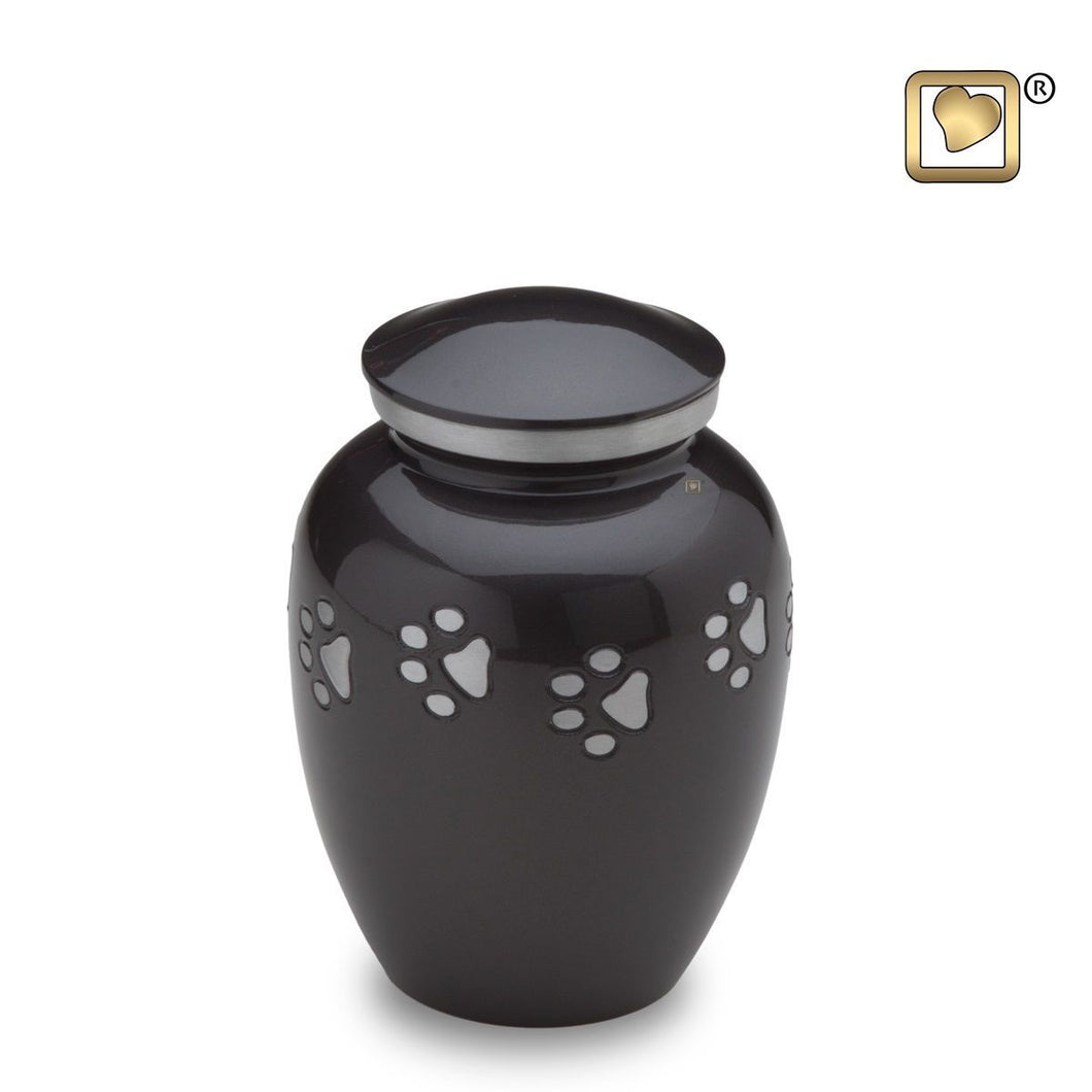 Midnight Classic Small Pet Funeral Cremation Urn, 40 Cubic Inches