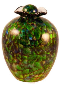 Large/Adult 220 Cubic Inch Rome Forest Funeral Glass Cremation Urn for Ashes